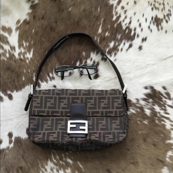 be80480801d3 Fendi Handbags - Vintage Fendi Zucca shoulder bag 90 s